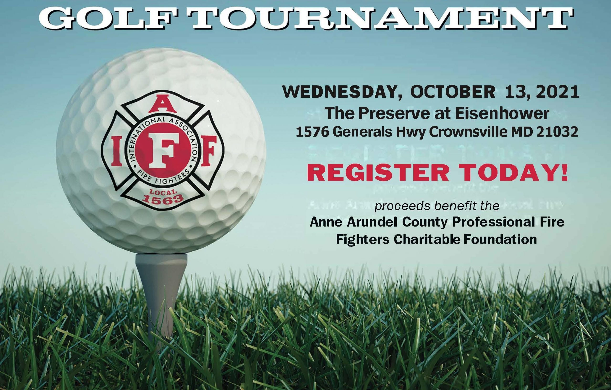 Anne Arundel Professional Fire Fighters, Local 1563 Charity Golf Tournament