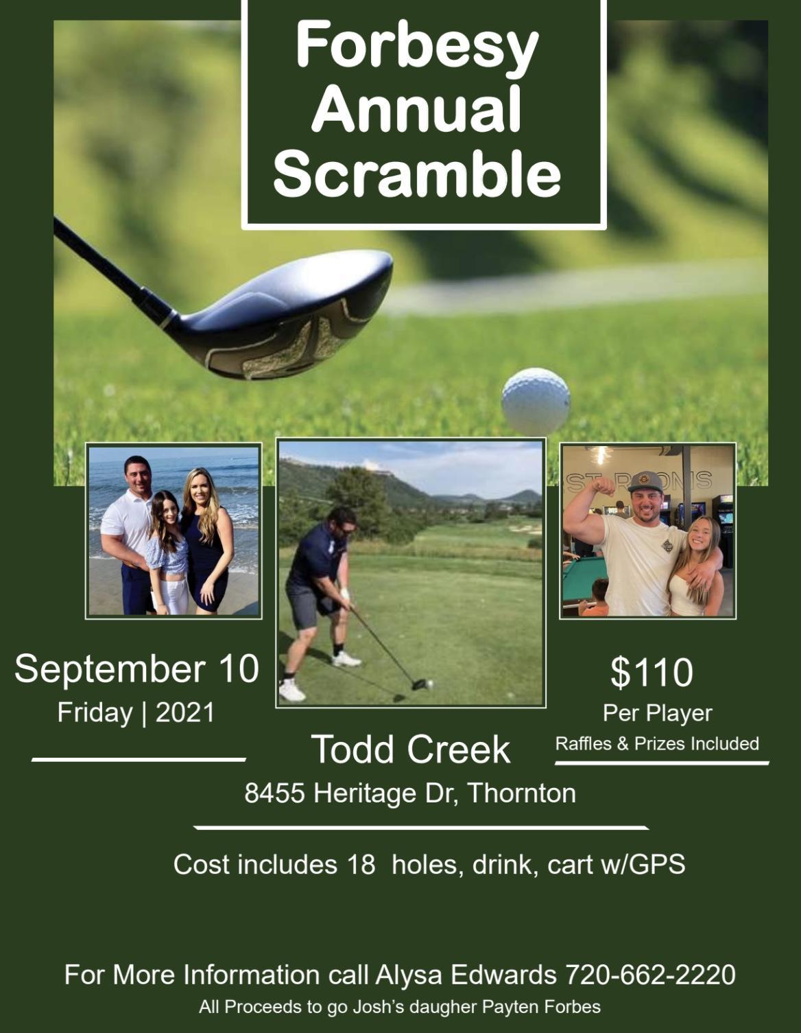Forbesy Annual Golf Scramble