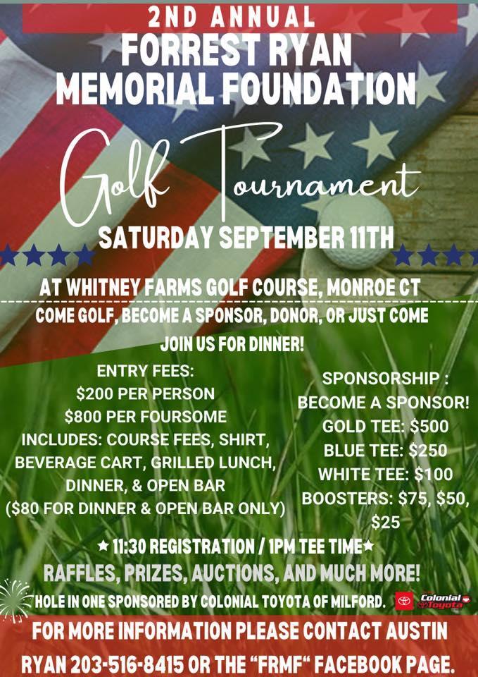 2nd Annual Forrest Ryan Memorial Foundation Golf Tournament