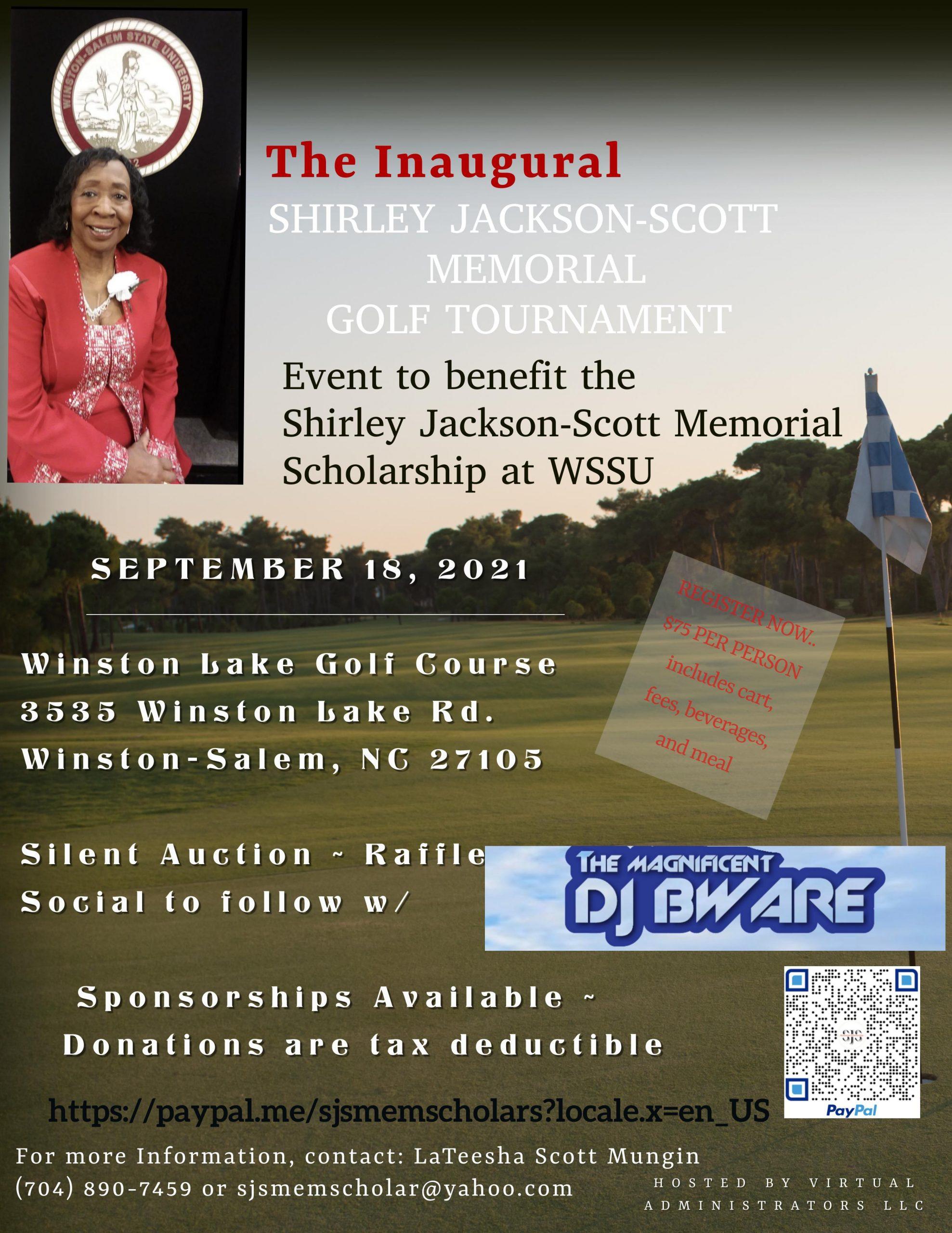 The Inaugural Shirley Jackson Scott Memorial Golf Tournament