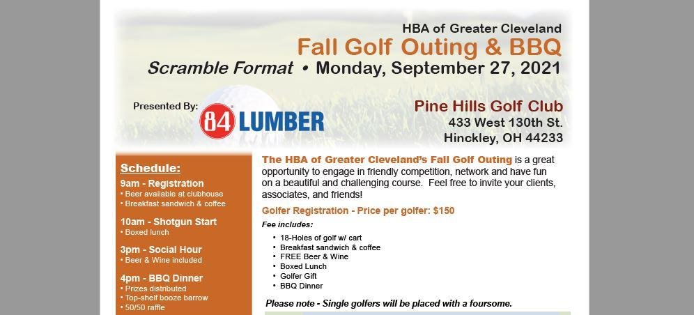 HBA of Greater Cleveland's Fall Golf Outing & BBQ