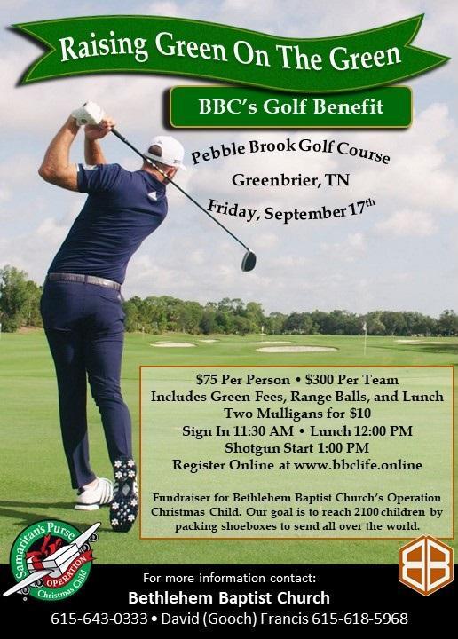 Raising Greens on the Green BBC's Golf Benefit