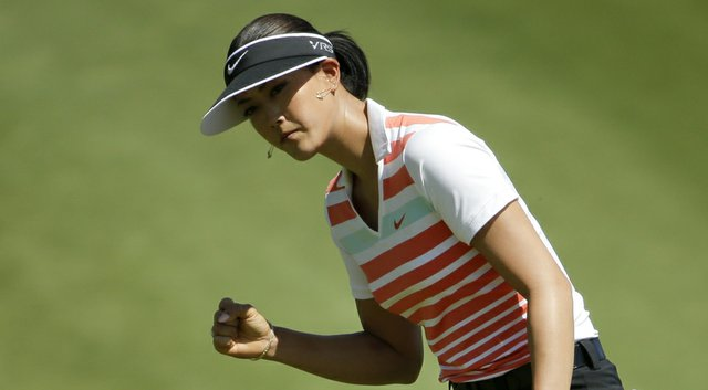 Michelle Wie during Saturday's third round of the LPGA's 2014 Kraft Nabisco Championship.