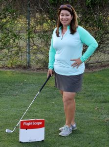 Jessica Quayle with Flightscope