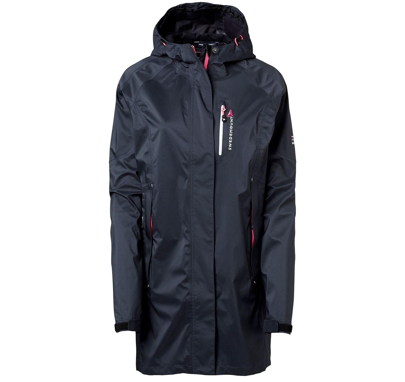 Fiskebäckskil Shell Coat W, Charcoal/Pink, 34, Regnkläder