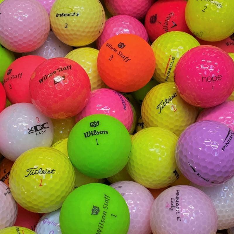 Färgade Golfbollar Mix Klass A/B -12 Pack