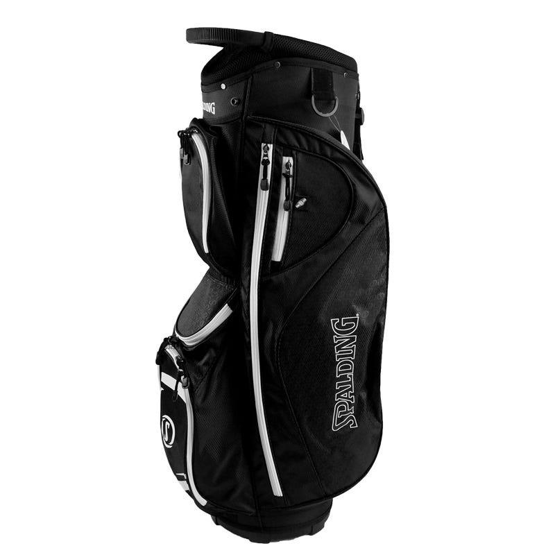 Spalding Golfbagar - Spalding Elite Golf Vagnbag-Svart/Vit