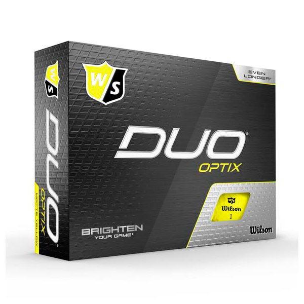 Wilson Staff DUO Optix Golf Balls 12 Pack Yellow