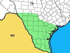 Photo of Texas range map for the Texas Indigo Snake.