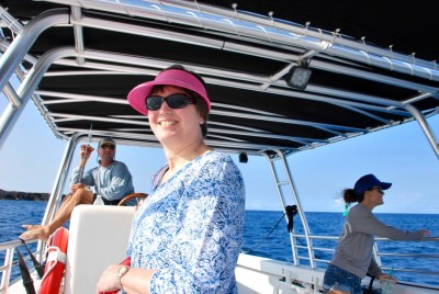 Linda on our Kona Ocean Adventure