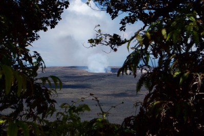 Final view of the Kilauea crater