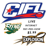 watch live sports video online CIFL live video webcast Erie Explosion at the Saginaw Sting