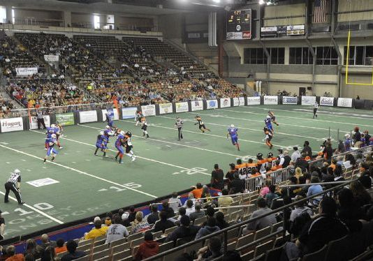 CIFL Championship game: Erie Explosion at Marion Blue Racers football May 18th 2014 live video PPV