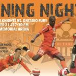 Syracuse Silver Knights host Ontario Fury at Home Opener 7:30pm ET on Nov. 21st, 2014 watch arena wsoccer live video on go live sports cast