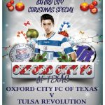 Oxford FC plays host to Tulsa on Dec 13th