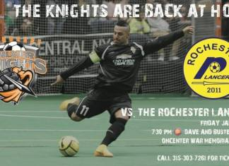Rochester faces Syracuse on Jan 16th in arena soccer