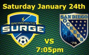 MASL West Coast: San Diego at Sacramento on Jan 24th