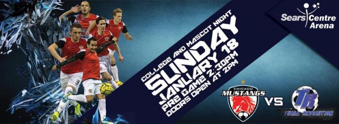 Tulsa/Chicago rematch on Jan 18th MASL soccer
