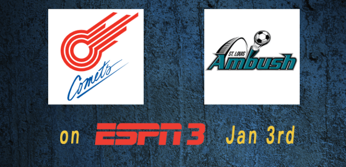 MASL in Missouri on ESPN3 Jan 3rd Comets at Ambush GOTW