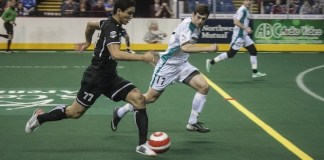 STL Ambush arena soccer at Wichita B52s Jan 10th