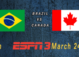 World Cup 2015: Brazil vs Canada Mar 24TH 7:30pm ET ESPN3