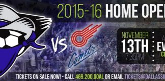 MASL arena soccer: Missouri Comets at Dallas Sidekicks Nov 13th