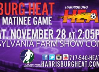 MASL East: Baltimore Blast at Harrisburg Heat Nov 28th 2:05pm