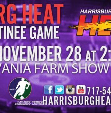 MASL East: Baltimore Blast at Harrisburg Heat Nov 28th 2:05pm