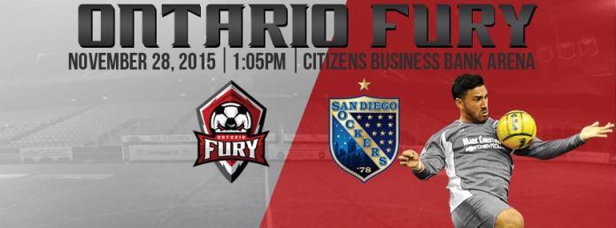 MASL: San Diego Sockers at Ontario Fury 1:05pm PT 11-28