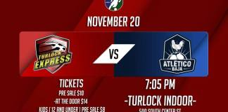 MASL West Division: Atletico Baja at Turlock Fri, Nov 20th 7:05pm PDT live streaming video on Go Live Sports Cast