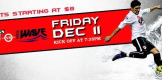 Milwaukee Wave at Chicago Mustangs Dec 11th watch live arena soccer video