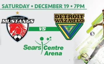 Waza Flo at Chicago Mustangs arena soccer on Dec 19th live video