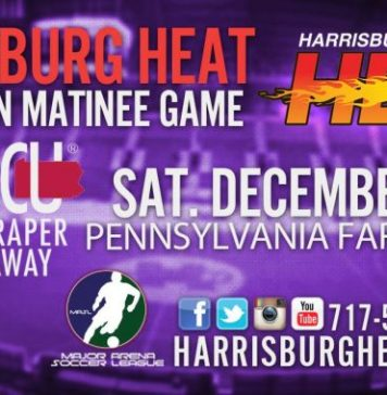 MASL East Meets West: San Diego Sockers at Harrisburg Heat Dec. 5th 2:05pm arena soccer