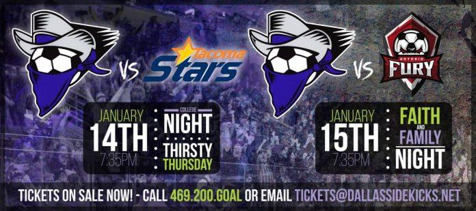 MASL: Tacoma Stars at Dallas Sidekicks Jan 14th 7:05pm