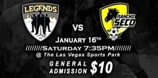 MASL West Div: Saltillo Rancho Seco at Las Vegas Legends Jan 16th, 2016, 7:35pm