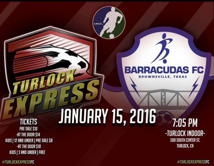 Brownsville at Turlock Express Jan 15th, 7:05pm PT