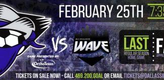 Milwaukee Wave at Dallas Sidekicks Feb 25th, 2016 7:35 pm watch live video streaming