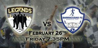 MASL West Div: Brownsville at Las Vegas Legends Feb 25th and 26th, 2016, 7:35pm