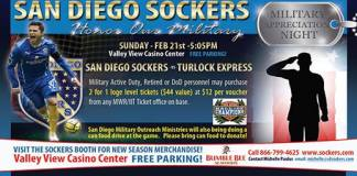 MASL WEST: Turlock Express at San Diego Sockers Feb 21st 5:05pm PT