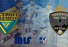 Major League Futsal: Detroit Waza vs Toronto United Sat. April 15th 8pm ET