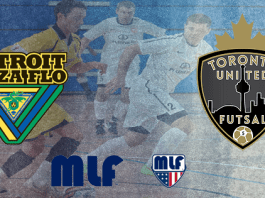 Major League Futsal: Detroit Waza vs Toronto United Sat. April 15th 8pm ET