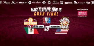 MASL CHAMPIONSHIP: Baltimore Blast at Soles de Sonora MASL arena soccer April 15th 8:05pm MST