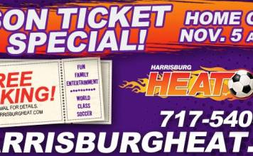 MASL: Harrisburg Heat 2016-17 Home Opener Saturday Nov 5th at 7:05 PM - 10 PM
