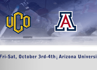 UCO Men's D1 hockey vs Arizona University October 4th-5th 7:30pm CT