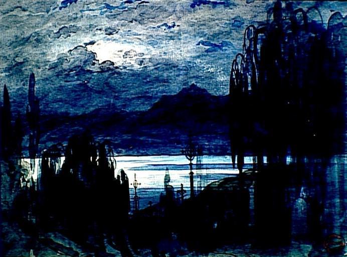 Gustave Dor Cimetire Au Bord Du Lac