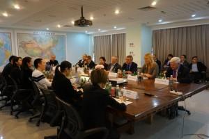 réunion de travail chine