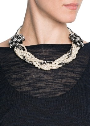 Mango - TOUCH Necklace with Pearls
