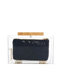 ASOS Clear Clutch With Internal Glitter Purse