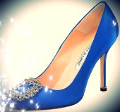 Blue Manolo Blahnik