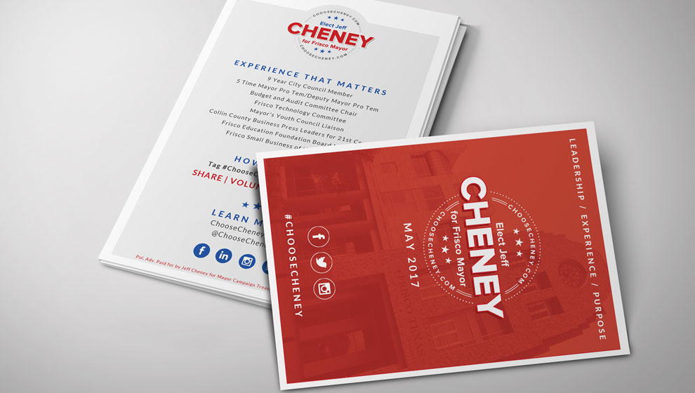 Elect Jeff Cheney print material
